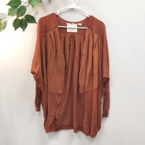ANTHROPOLOGIE | Angel of the North rust cardigan